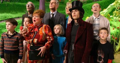 FREDDIE HIGHMORE, DAVID KELLY, JULIA WINTER, FRANZISKA TROEGNER, JAMES FOX, ANNASOPHIA ROBB, MISSI PYLE, JOHNNY DEPP, ADAM GODLEY & JORDAN FRY in Charlie & The Chocolate Factory *Editorial Use Only* www.capitalpictures.com sales@capitalpictures.com Supplied by Capital Pictures